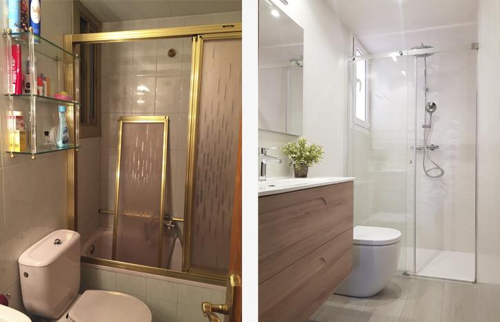 Antes y después reforma baño