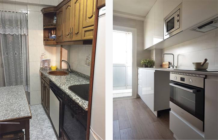 Antes y después reforma cocina