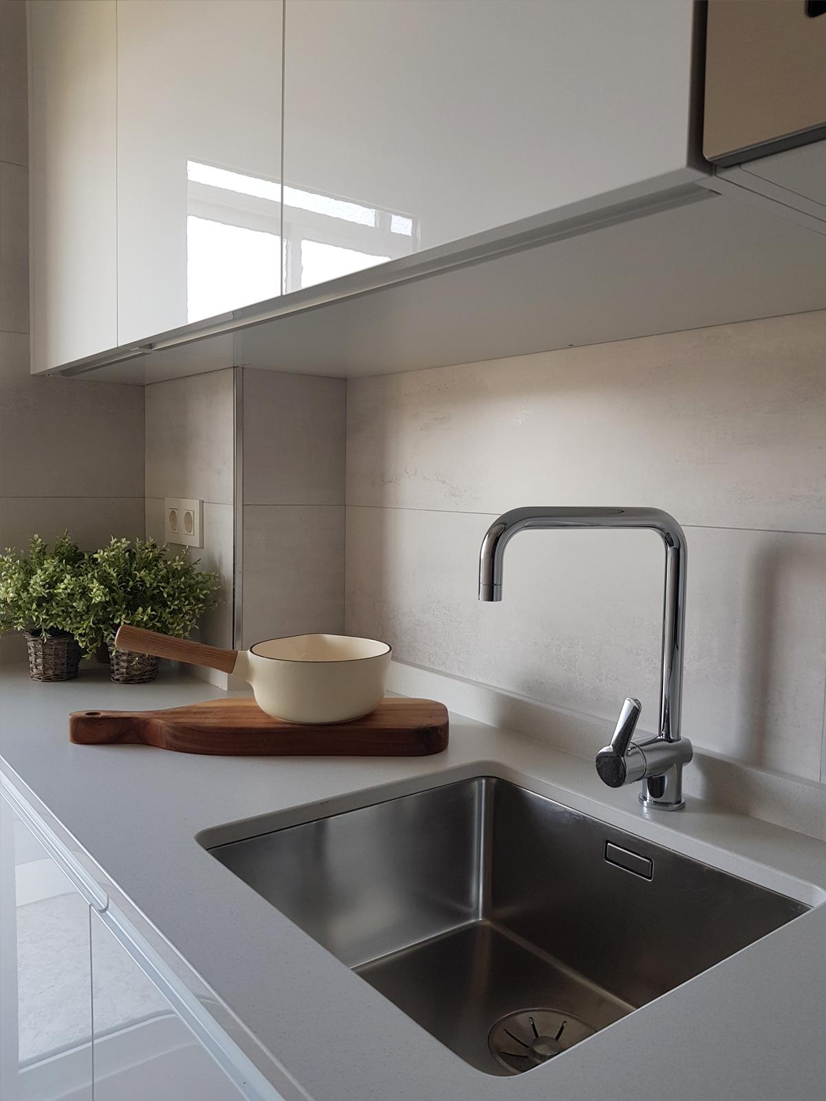detalle encimera cocina